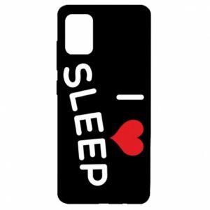 Etui na Samsung A51 I love sleep