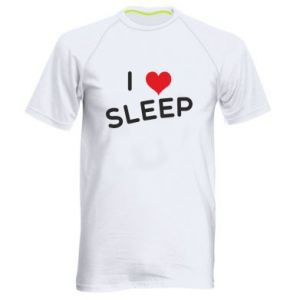 Męska koszulka sportowa I love sleep