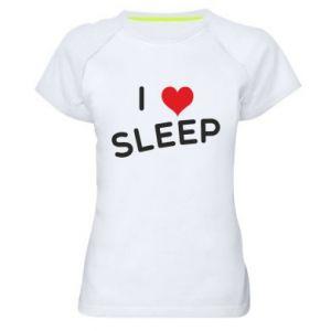 Damska koszulka sportowa I love sleep