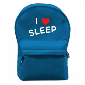 Backpack with front pocket I love sleep