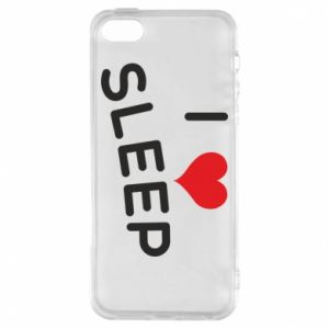 Etui na iPhone 5/5S/SE I love sleep