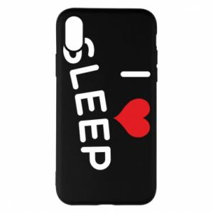 Etui na iPhone X/Xs I love sleep