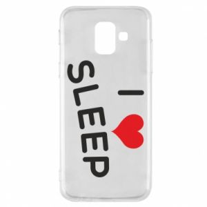 Etui na Samsung A6 2018 I love sleep