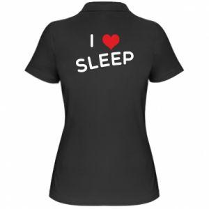 Damska koszulka polo I love sleep