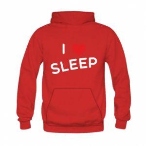 Bluza z kapturem dziecięca I love sleep