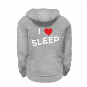 Bluza na zamek dziecięca I love sleep