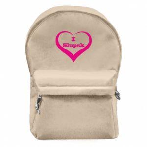 Plecak z przednią kieszenią I love Slupsk