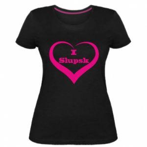 Damska premium koszulka I love Slupsk - PrintSalon