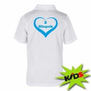 Dziecięca koszulka polo I love Slupsk