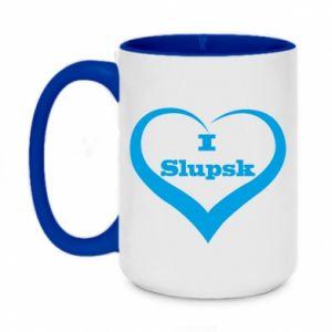 Kubek dwukolorowy 450ml I love Slupsk