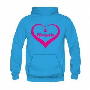 Kid's hoodie I love Slupsk