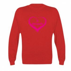 Kid's sweatshirt I love Slupsk