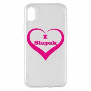 Etui na iPhone X/Xs I love Slupsk