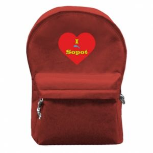 "Backpack with front pocket ""I love Sopot"" with symbol"
