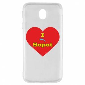 "Samsung J7 2017 Case ""I love Sopot"" with symbol"