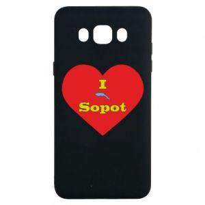 "Samsung J7 2016 Case ""I love Sopot"" with symbol"