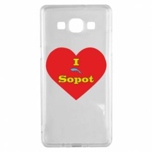 "Samsung A5 2015 Case ""I love Sopot"" with symbol"