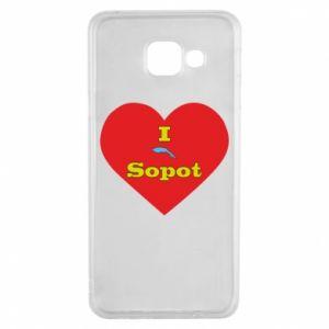 "Samsung A3 2016 Case ""I love Sopot"" with symbol"
