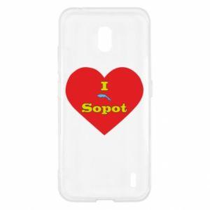 "Nokia 2.2 Case ""I love Sopot"" with symbol"