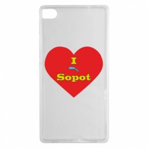 """Huawei P8 Case """"I love Sopot"""" with symbol"""