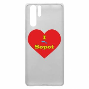 """Huawei P30 Pro Case """"I love Sopot"""" with symbol"""