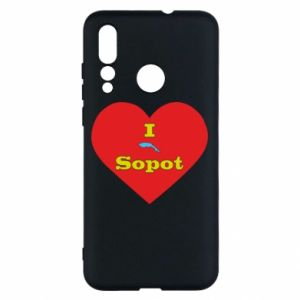 "Huawei Nova 4 Case ""I love Sopot"" with symbol"