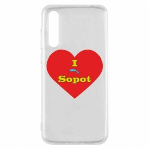 """Huawei P20 Pro Case """"I love Sopot"""" with symbol"""