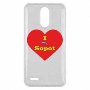 "Lg K10 2017 Case ""I love Sopot"" with symbol"
