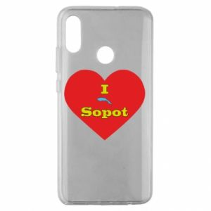 """Huawei Honor 10 Lite Case """"I love Sopot"""" with symbol"""
