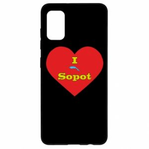 "Samsung A41 Case ""I love Sopot"" with symbol"