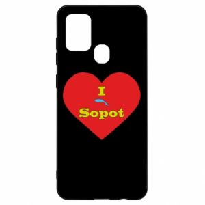 "Samsung A21s Case ""I love Sopot"" with symbol"