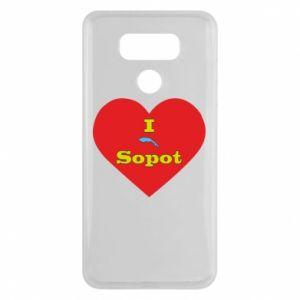 "LG G6 Case ""I love Sopot"" with symbol"
