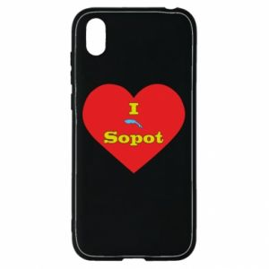 """Huawei Y5 2019 Case """"I love Sopot"""" with symbol"""