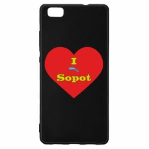 """Huawei P8 Lite Case """"I love Sopot"""" with symbol"""