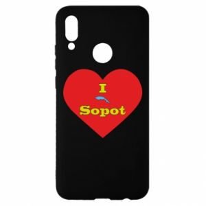 """Huawei P Smart 2019 Case """"I love Sopot"""" with symbol"""