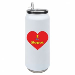 "Puszka termiczna ""I love Sopot"" z symbolem"