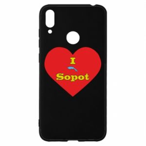 """Huawei Y7 2019 Case """"I love Sopot"""" with symbol"""