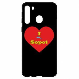 "Samsung A21 Case ""I love Sopot"" with symbol"