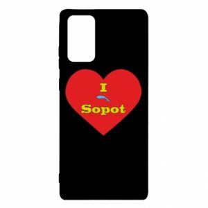 "Samsung Note 20 Case ""I love Sopot"" with symbol"