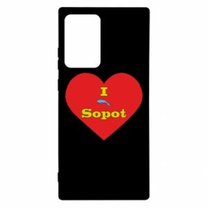 """Samsung Note 20 Ultra Case """"I love Sopot"""" with symbol"""