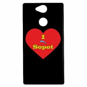 """Sony Xperia XA2 Case """"I love Sopot"""" with symbol"""