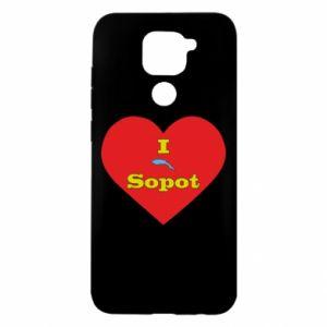 """Xiaomi Redmi Note 9 / Redmi 10X case % print% """"I love Sopot"""" with symbol"""