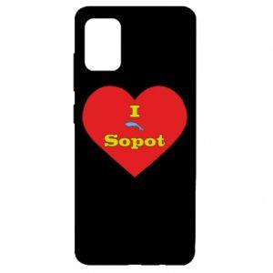 "Samsung A51 Case ""I love Sopot"" with symbol"
