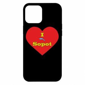 "iPhone 12 Pro Max Case ""I love Sopot"" with symbol"