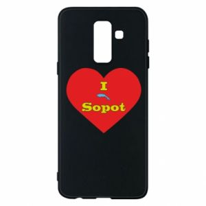 "Phone case for Samsung A6+ 2018 ""I love Sopot"" with symbol"