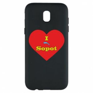 "Phone case for Samsung J5 2017 ""I love Sopot"" with symbol"
