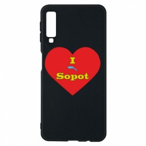 "Phone case for Samsung A7 2018 ""I love Sopot"" with symbol"