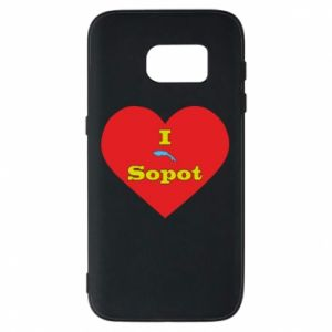 "Phone case for Samsung S7 ""I love Sopot"" with symbol"