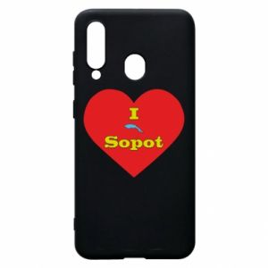 "Phone case for Samsung A60 ""I love Sopot"" with symbol"