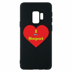 "Phone case for Samsung S9 ""I love Sopot"" with symbol"